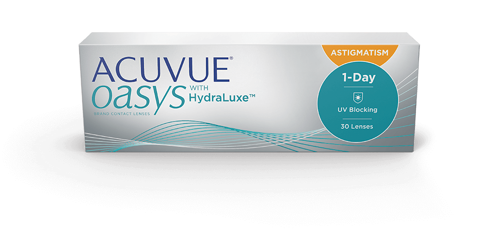 ACUVUE® OASYS 1-DAY med HydraLuxe™ TEKNOLOGI for ASTIGMATISM